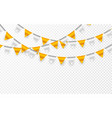 celebration party banner golden and silver foil vector image vector image