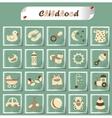 childhood icons vector image