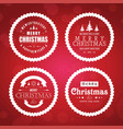 chirstmas card set with red background vector image vector image