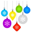 Christmas Background with Flat Balls and vector image vector image