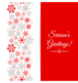 Christmas greetings card Border Christmas seamless vector image vector image