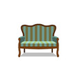 classic sofa icon front view isolated vector image vector image
