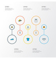 clothes icons colored line set with briefs vector image vector image