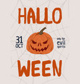 colorful hand drawn halloween poster with place vector image vector image