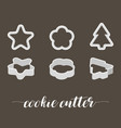 Cookie cutter in various style vector image