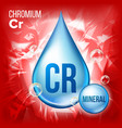 cr chromium mineral blue drop icon vector image vector image