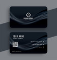 dark business card with wavy lines design vector image vector image