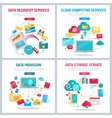 Data Services Banners Set vector image vector image