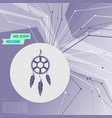 dreamcatcher icon on purple abstract modern vector image vector image
