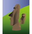 Easter island idol vector image vector image