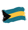 flag of bahamas grunge abstract brush stroke vector image