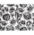floral seamless pattern flower ornament vector image vector image