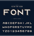 font and alphabet bold typeface letter vector image