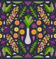 fresh farm organic vegetables pattern vector image