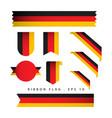 germany ribbon flag template design vector image
