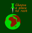 globe icon with place for rest vector image
