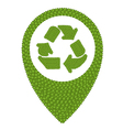 Green Clover of Recycle Icon in Navication Icon vector image vector image
