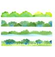green color bush grass and water border vector image