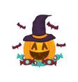 halloween pumpkin desing vector image vector image