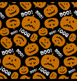 halloween seamless pattern with funny pumpkin vector image