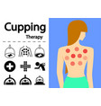 hijama or cupping therapy icons in flat art vector image vector image
