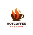 hot coffee logo icon vector image vector image