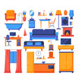 house object - set flat design style elements vector image vector image