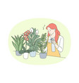houseplants and home gardening concept vector image