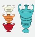 image of vintage amphorae vector image vector image