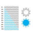 infographic user icon element percent statistic vector image vector image