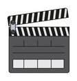 Isolated clapboard design vector image vector image
