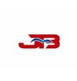 JB Logo Graphic Branding Letter Element vector image vector image