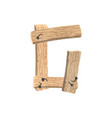 letter g wood board font plank and nails alphabet vector image
