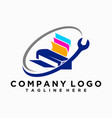 logo or printer repair icon vector image