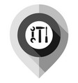 map pin repair symbol gps pointer folded from vector image