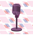 microphone isolated icon vector image vector image