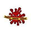 modern covid-19 coronavirus mascot logo