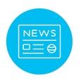 Newspaper line icon vector image