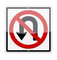 no u-turn sign vector image vector image