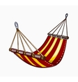 painted hammock vector image vector image