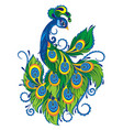 peacock bird vector image vector image