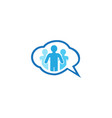 people community chatting icon for logo design on vector image vector image