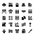 printer and plotter solid icons vector image vector image