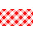 red and white argyle tablecloth seamless pattern vector image