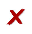 red x letter logo template design eps 10 vector image vector image