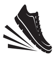 Running shoes icon1 resize vector image vector image