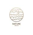 sea landscape logo vector image vector image