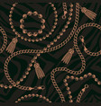 seamless pattern chains vector image vector image