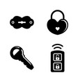 security keys lock simple related icons vector image vector image
