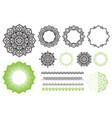 set elements from mandala frames brushes zen vector image